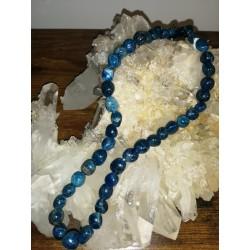 collier en Apatite bleue...